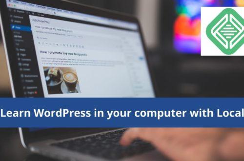 Use Local to teach yourself WordPress